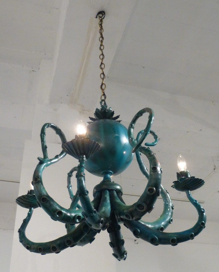 Adam Wallacavage Green Octopus Chandelier
