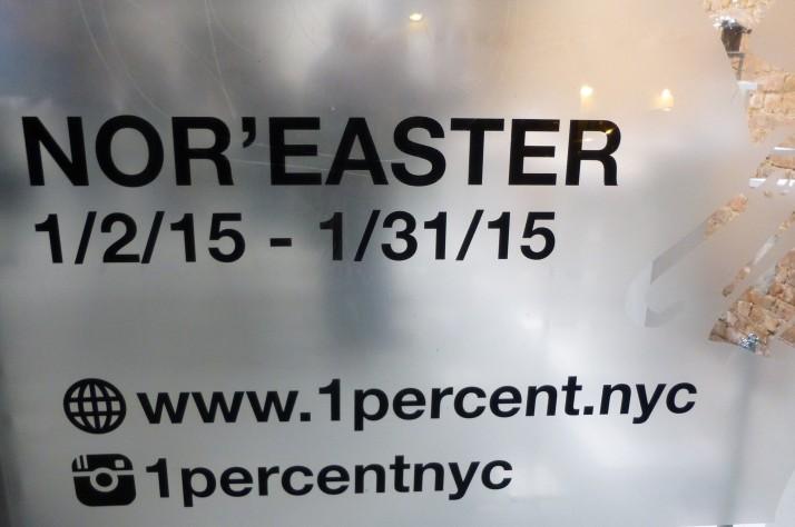 Nor'Easter Pop Up Shop Signage