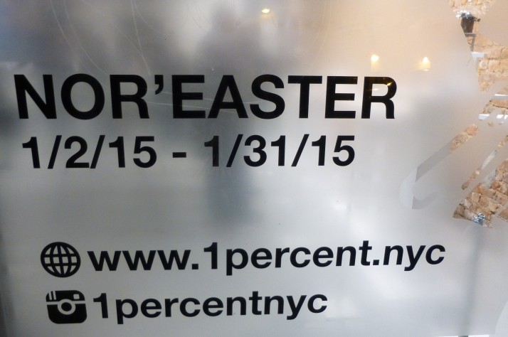 Nor'Easter Pop Up Shop Signage