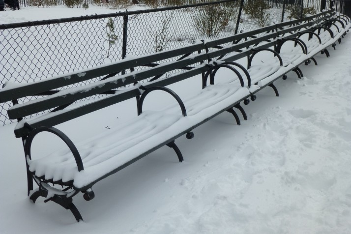 Benches with Snow