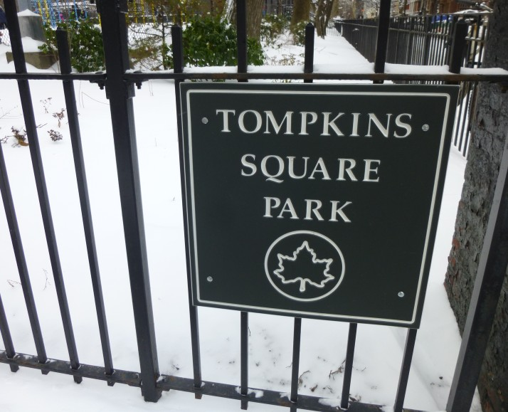 Tompkins Square Park Sign