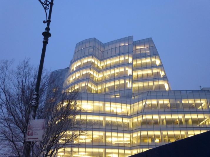 IAC Building in the Snow