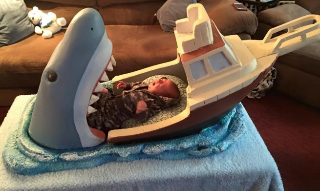 Shark Attack Bed Baby Crying