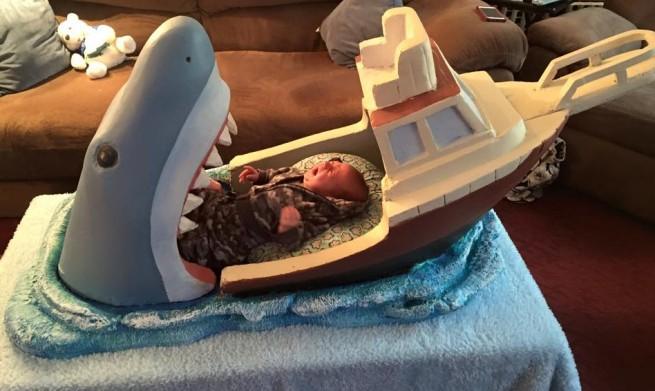 Shark Attack Bed Baby Crying