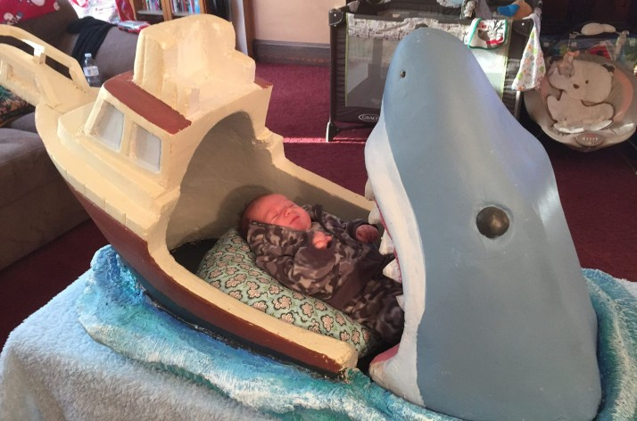 Shark Attack Bed with Baby