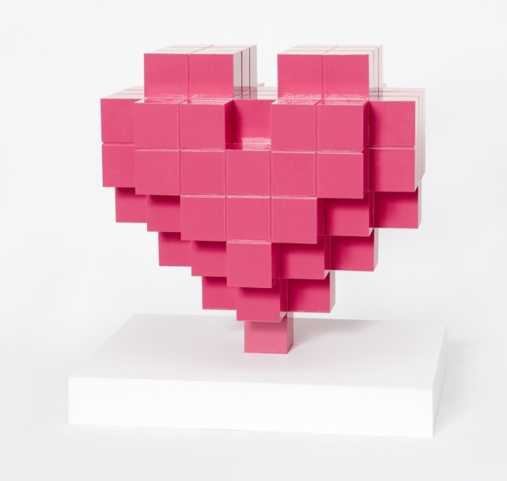 Pink Tetris Heart