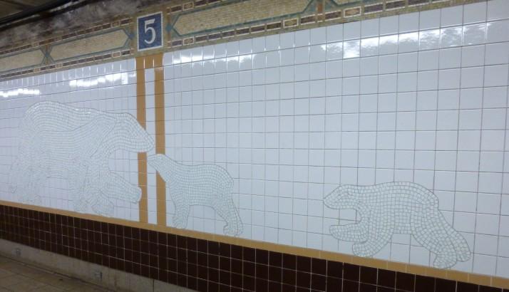 Polar Bears Subway Mosaic