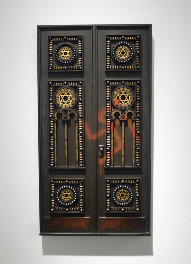 Vandalized Synagogue Door (I)