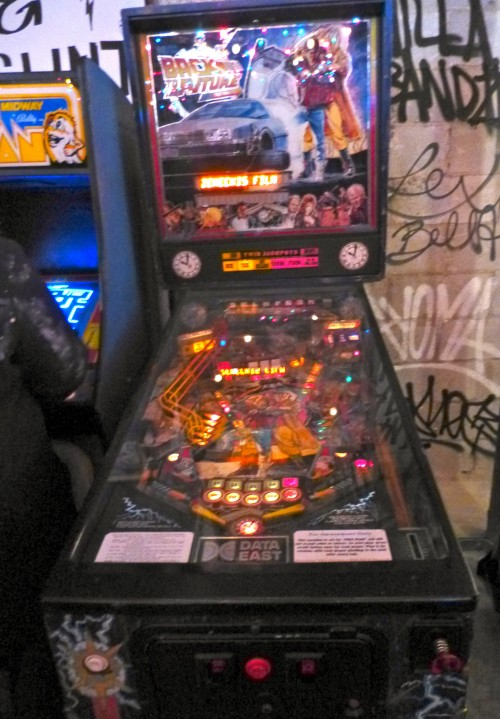 Back to the Future Pin Ball Machine