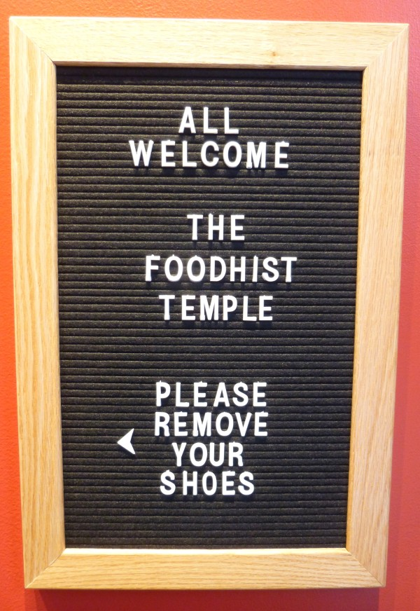 Foodhist Temple Welcome