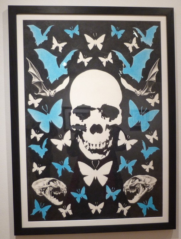 Skull Blue Butterflies