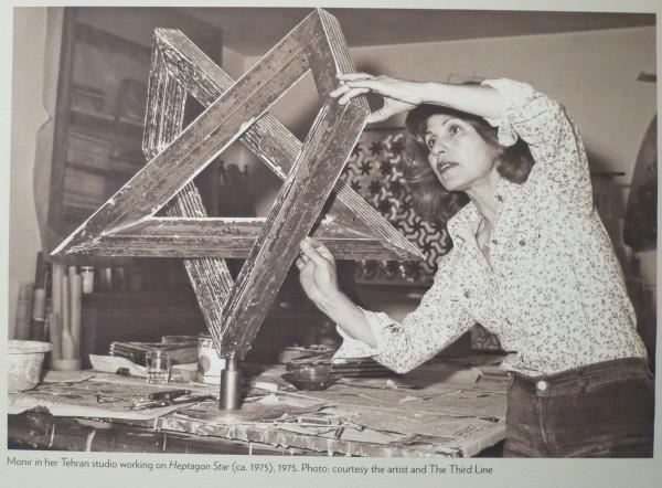 Monir with Sculpture
