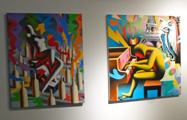 Two Kostabi Paintings