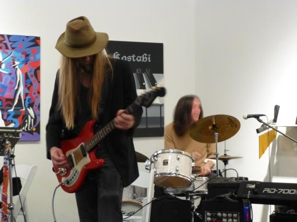 Paul Kostabi and Drummer