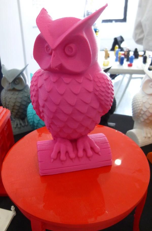 Pink 3D Print Owl