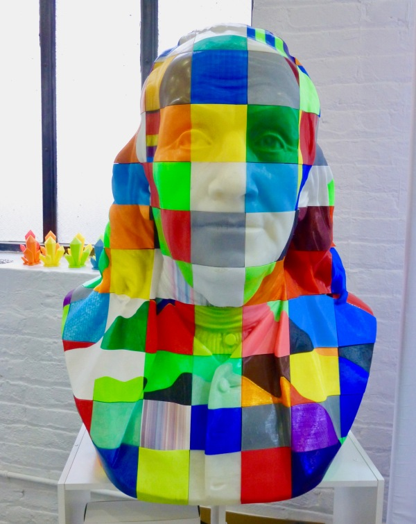 3D Printed Bust of Ben Franklin By Gail Wortley