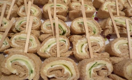 Nature's Harvest Pinwheel Sandwiches
