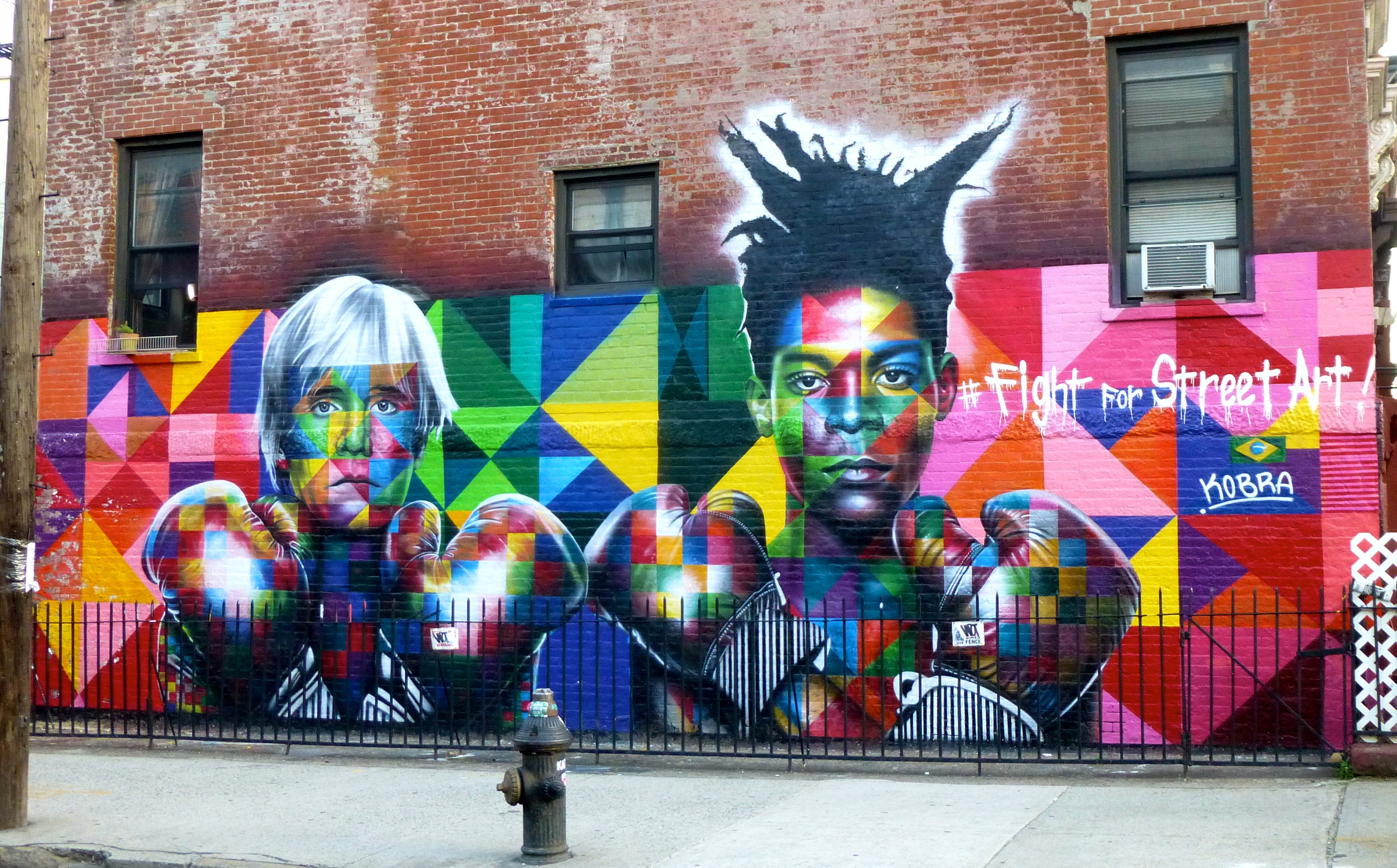 Diy Wall Murals Kobra S Warhol And Basquiat Mural Williamsburg The