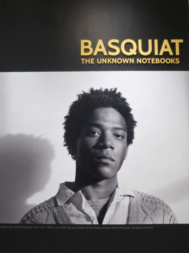 Basquiat Unknown Notebooks Signage