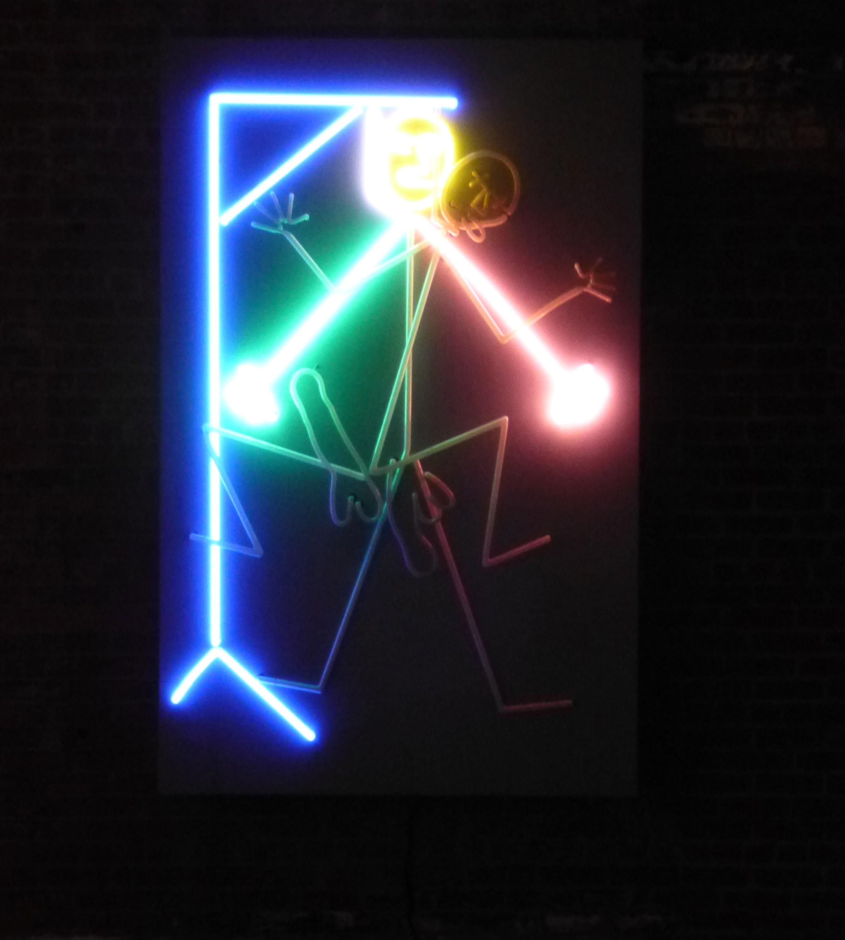 Bruce Nauman Neon Gif