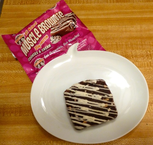 Protein Brownie on Plate