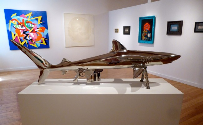Installation View with Shark Gun