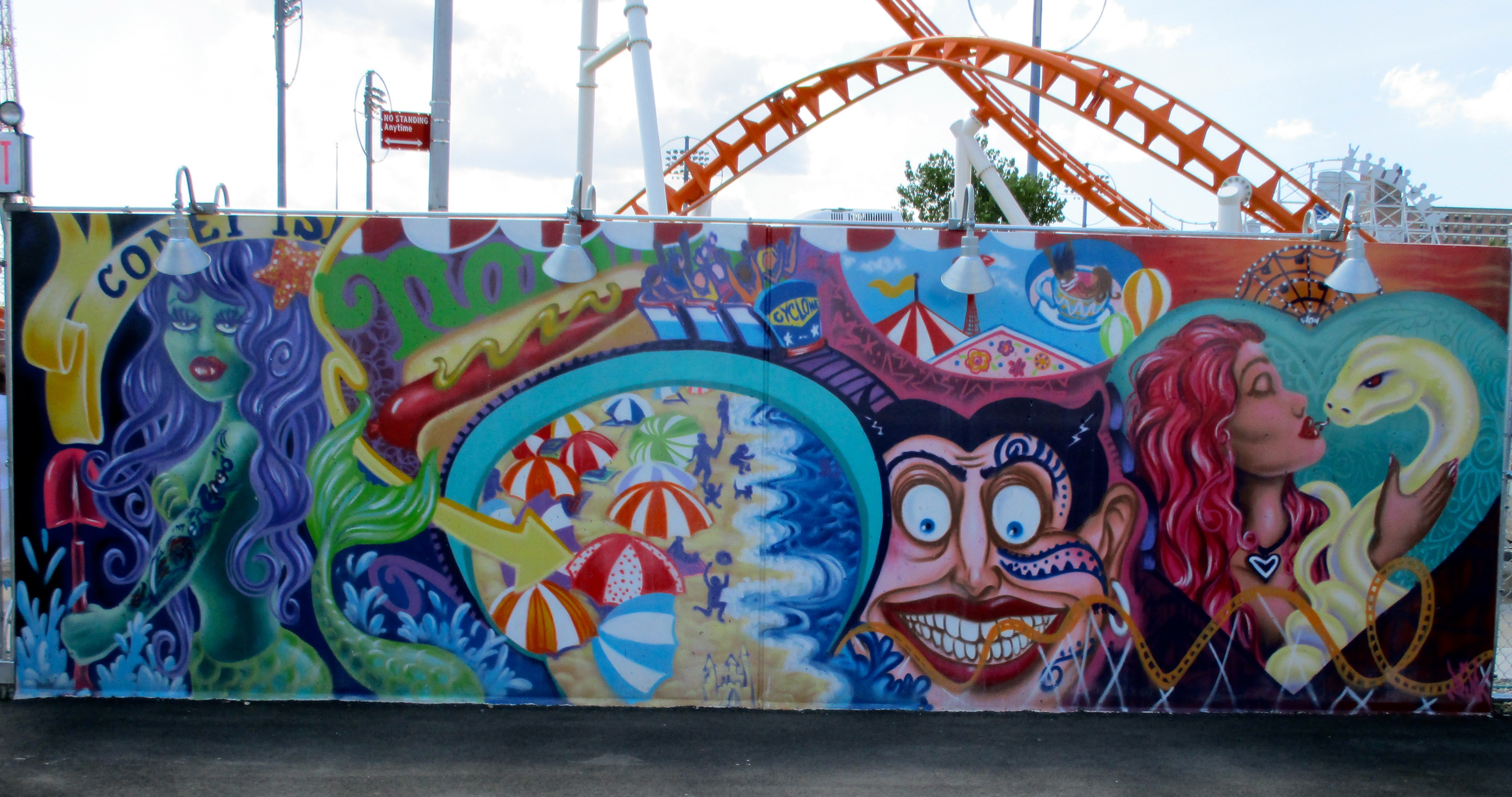 Visit the coney island art walls the worley gig for Coney island mural