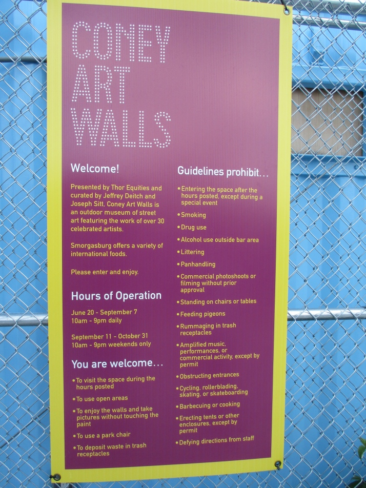 Coney Art Walls Signage