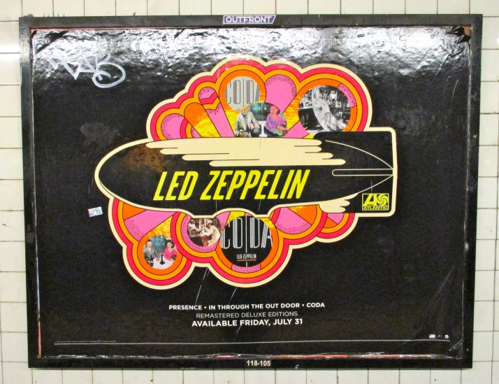 Led Zeppelin Subway Ad