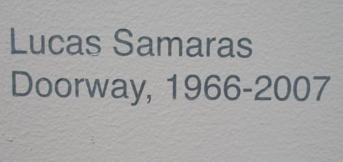 Lucas Samaras Doorway Signage
