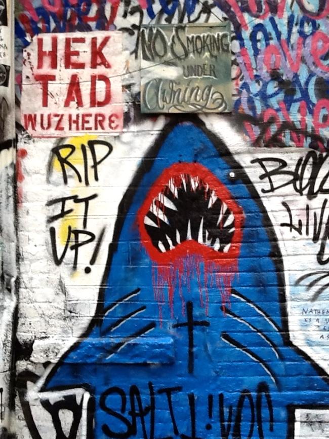 Shark Attack Mural