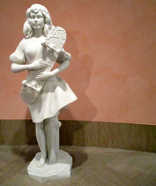 Girl with Skate Board Statue
