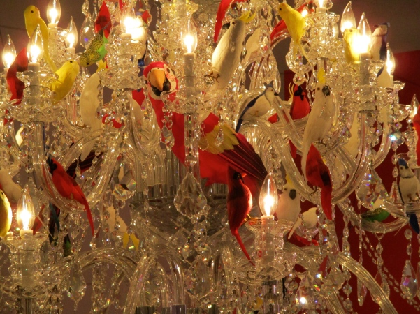 Chandelier Detail with Birds