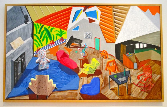 David David Hockney Large Interior LA