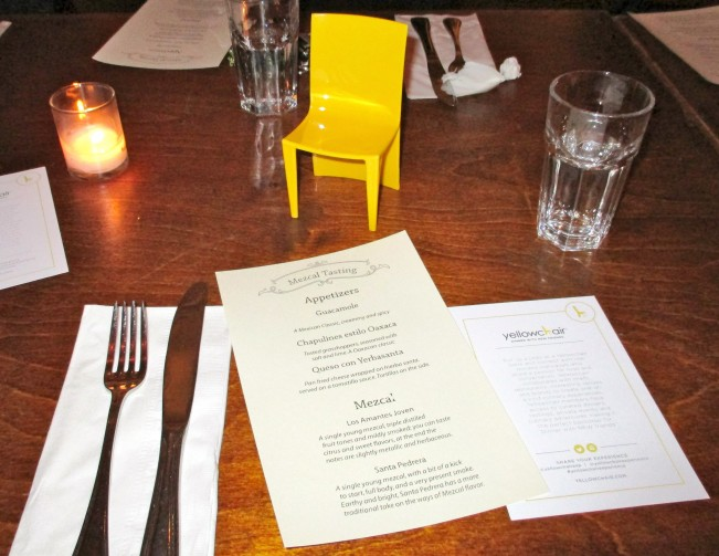 Yellow Chair Table Setting