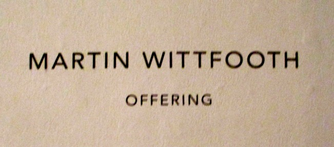 Martin Wittfooth Signage
