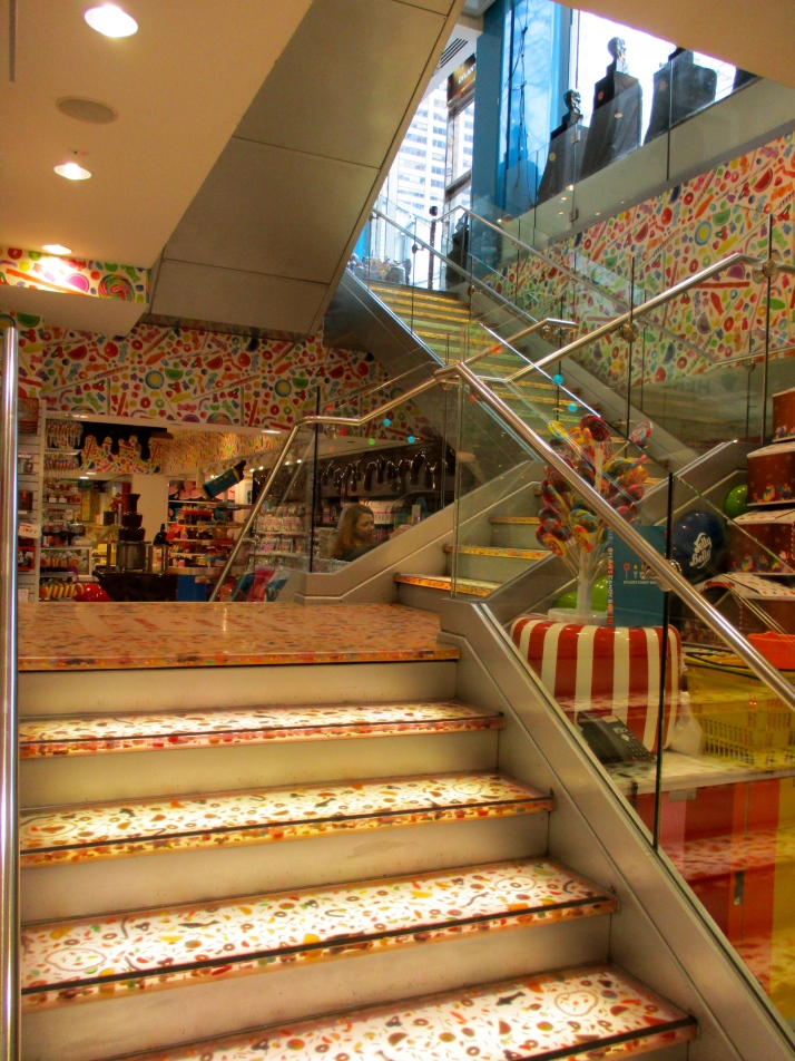 Full Candy Staircase Looking Up