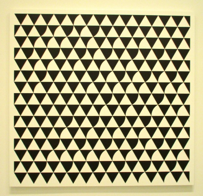 Bridget Riley Black and White Square
