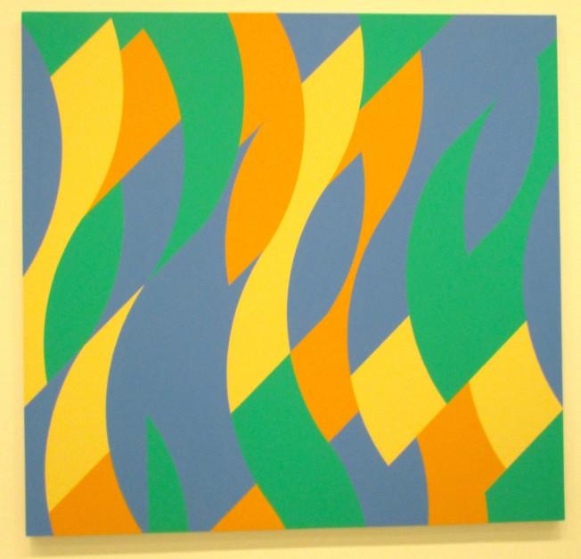 Bridget Riley Yellow Blue and Green