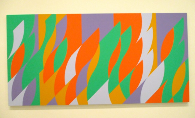 Bridget Riley Orange Purple and Green