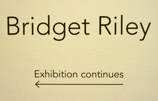 Bridget Riley Signage
