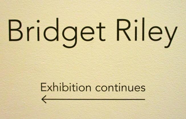 Bridget Riley Signage