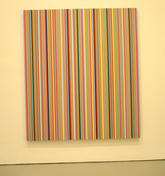 Bridget Riley Vertical Stripes