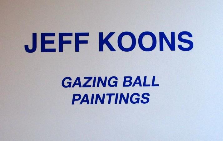 Jeff Koons Signage