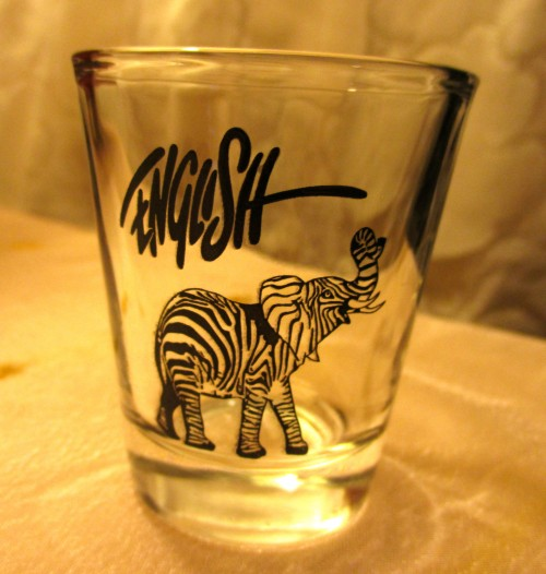 Ron English Shot Glass