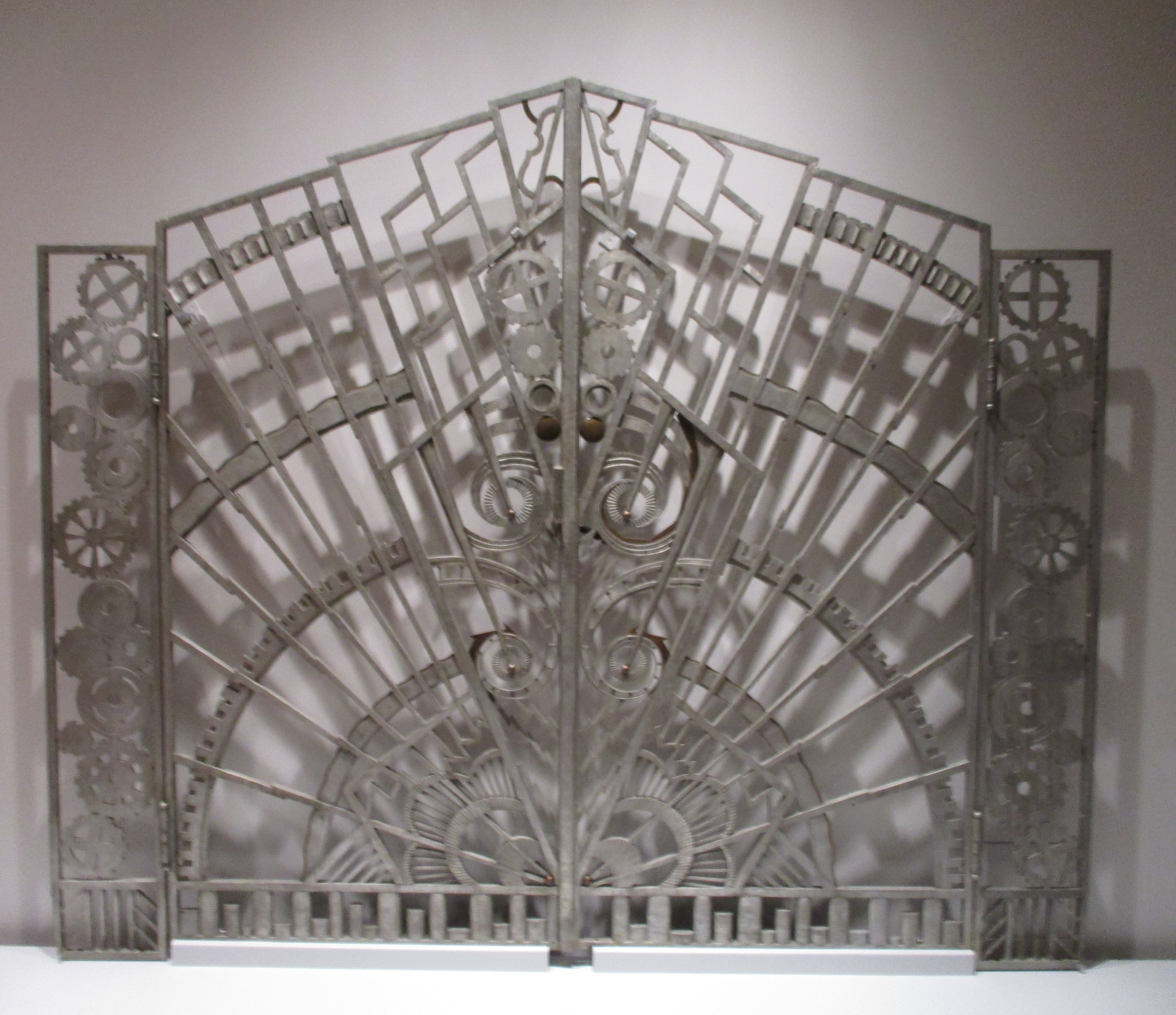 Pair Of Art Deco Gates From The Chanin Building