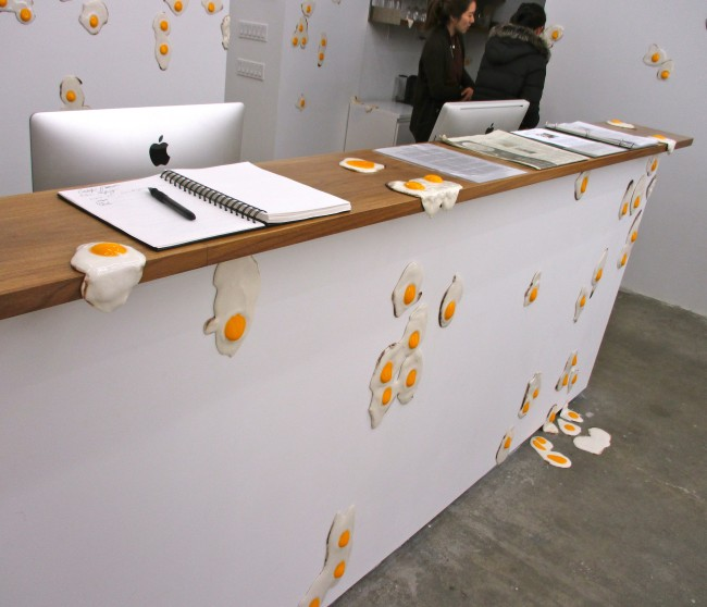Eggs on the Desk Front
