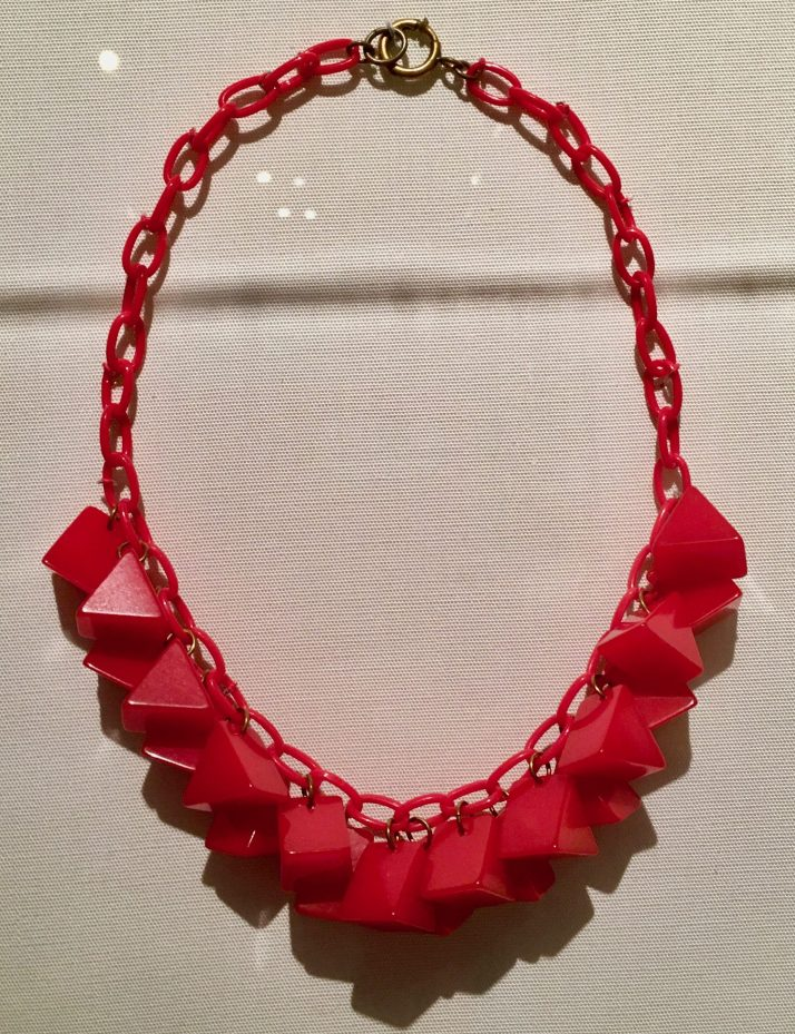 red bakelite bead necklace photo by gail worley