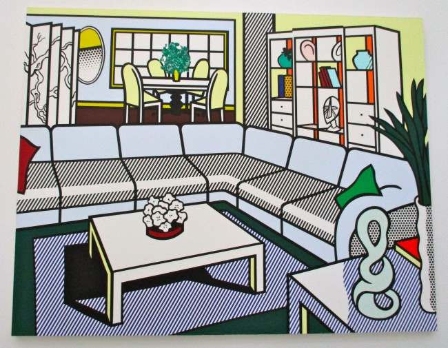 Roy Lichtenstein Interior with African Mask 1991