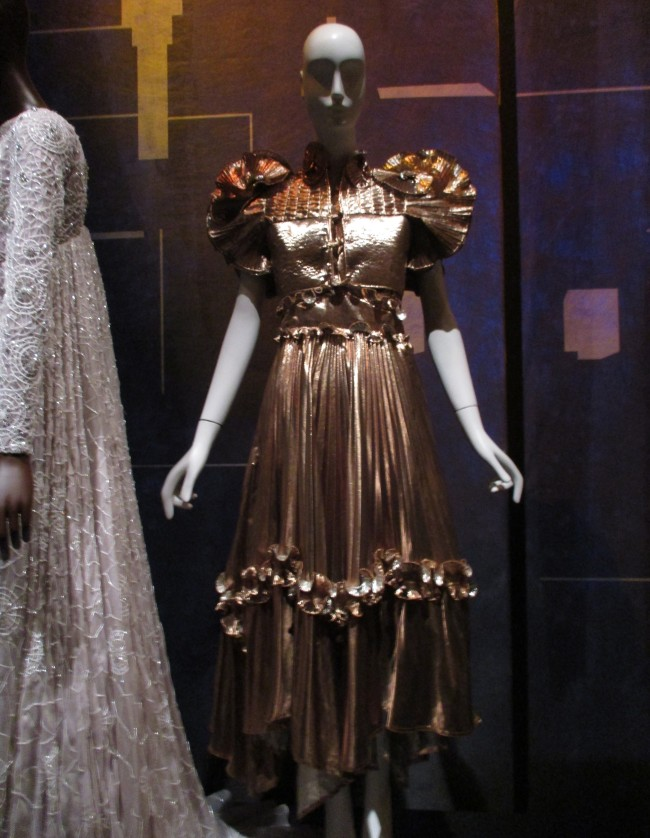 Gold Dress By Zandra Rhodes